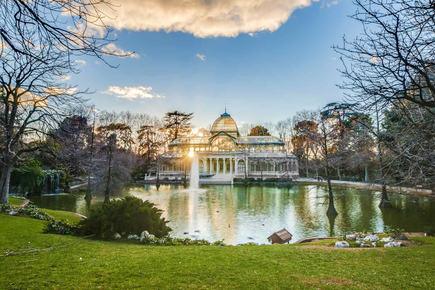 Palacio de Cristal at Buen Retiro Park in Madrid, Spain