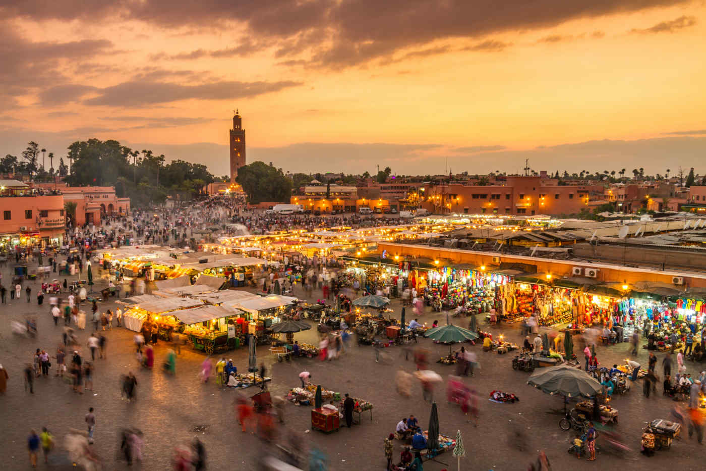 Market in Marrakesh, Morocco