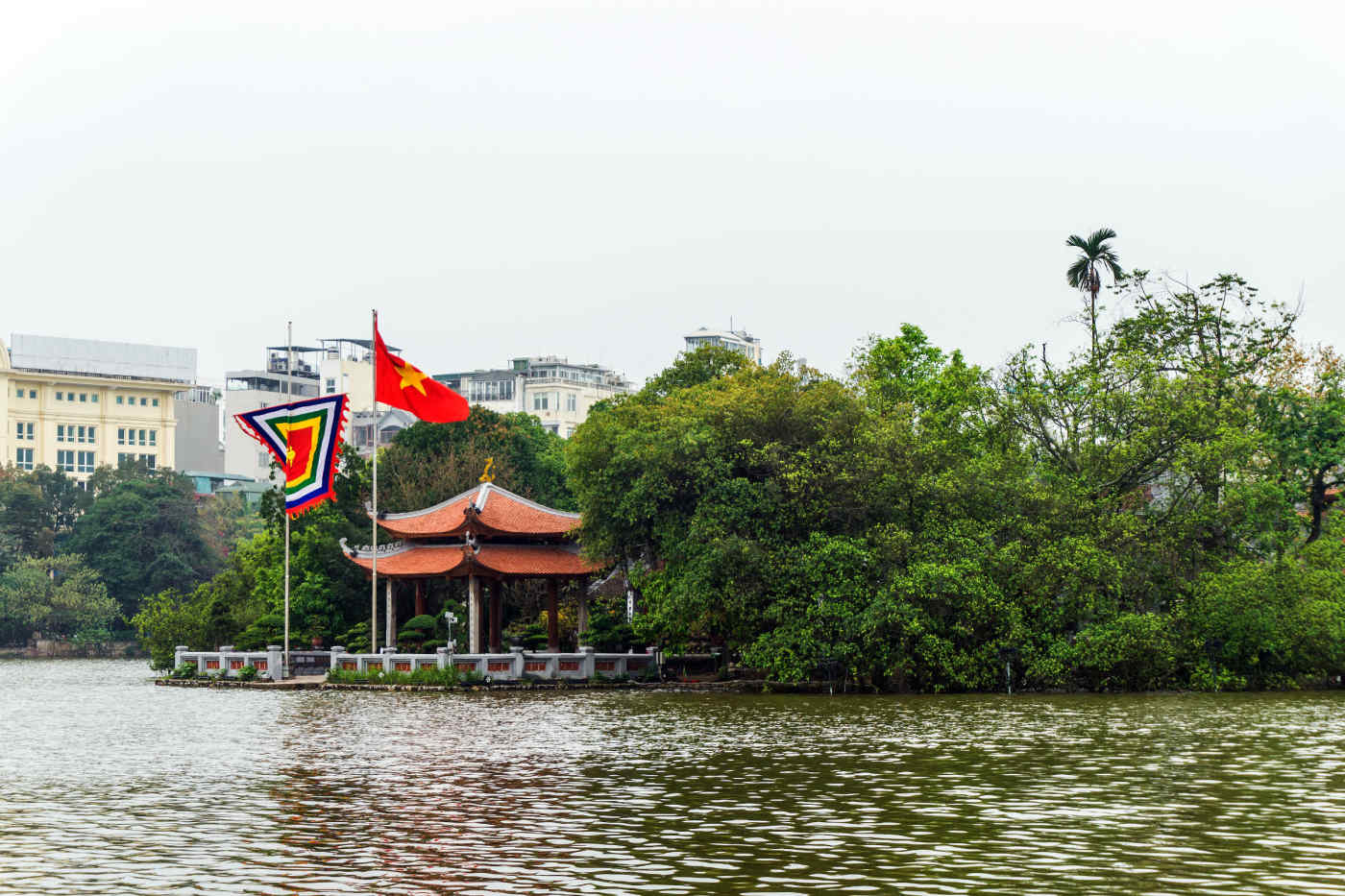 Ngoc Son Temple on Hoan Kiem Lake, Hanoi
