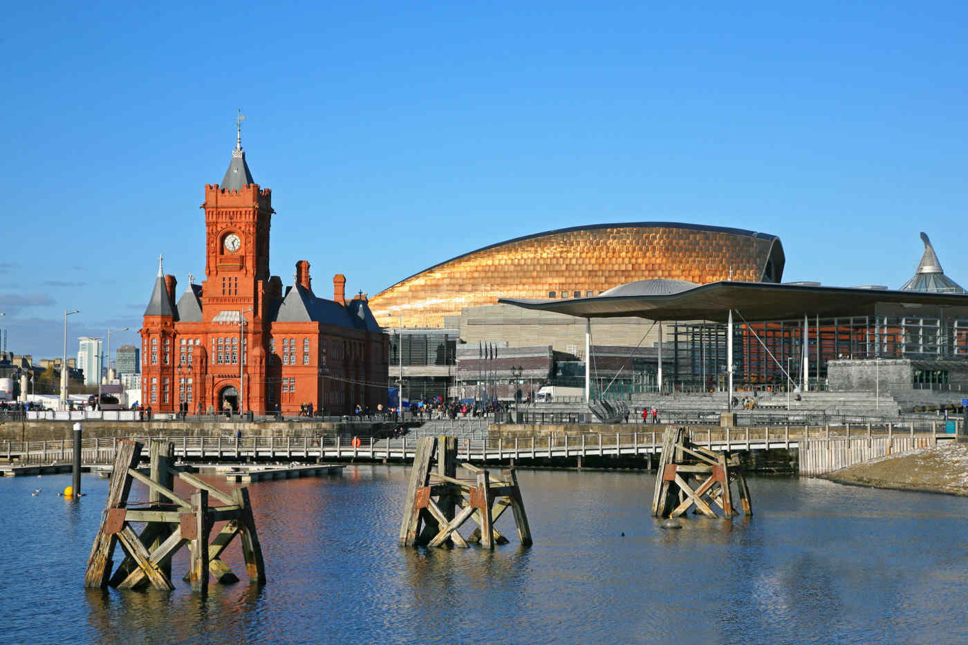 Pierhead in Cardiff, Wales