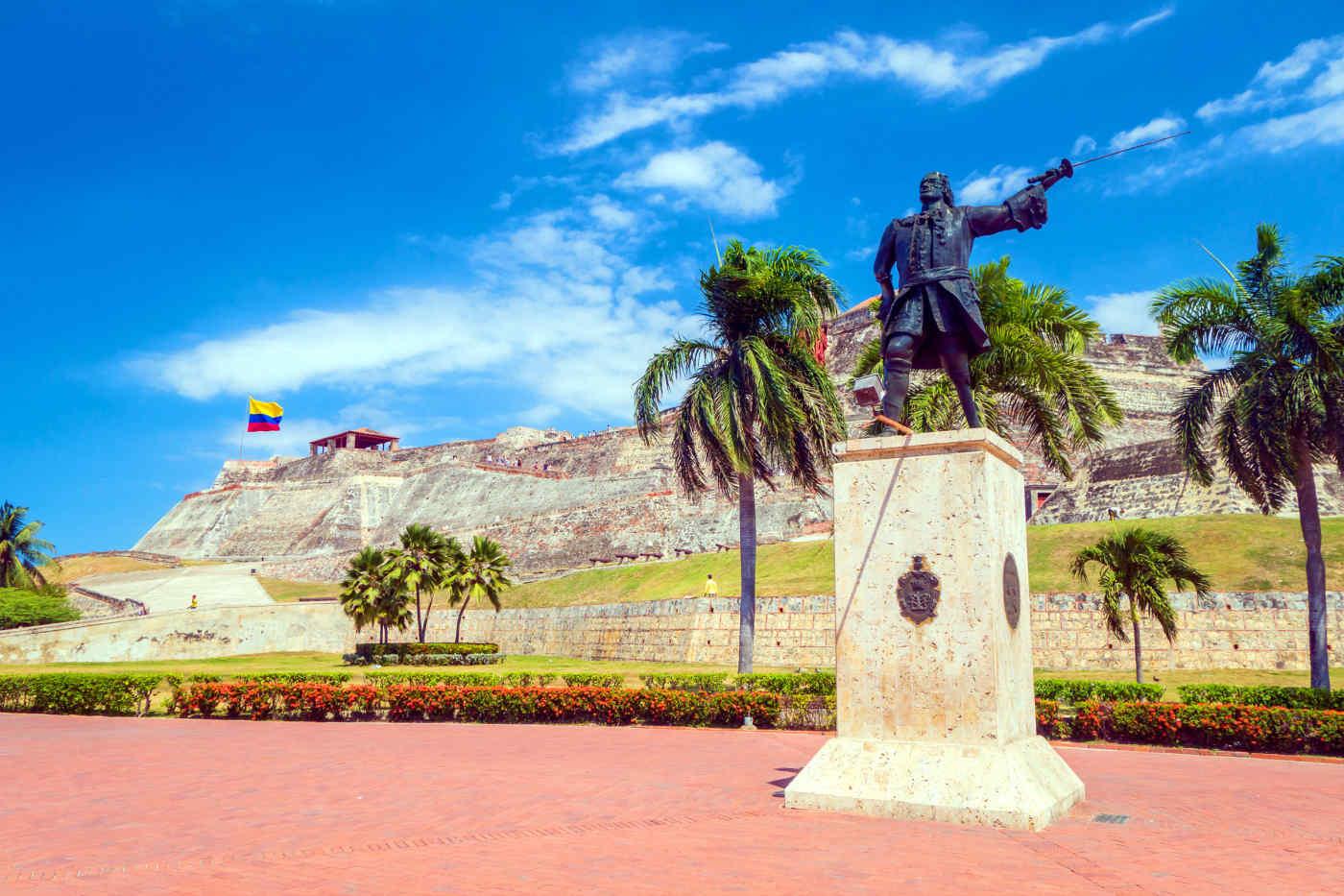 Castillo de San Felipe de Barajas in Cartagena