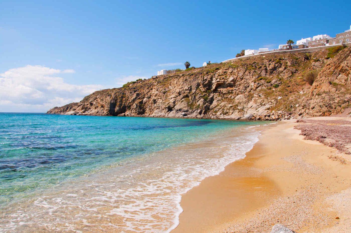 Kalo Livadi Beach in Mykonos, Greece