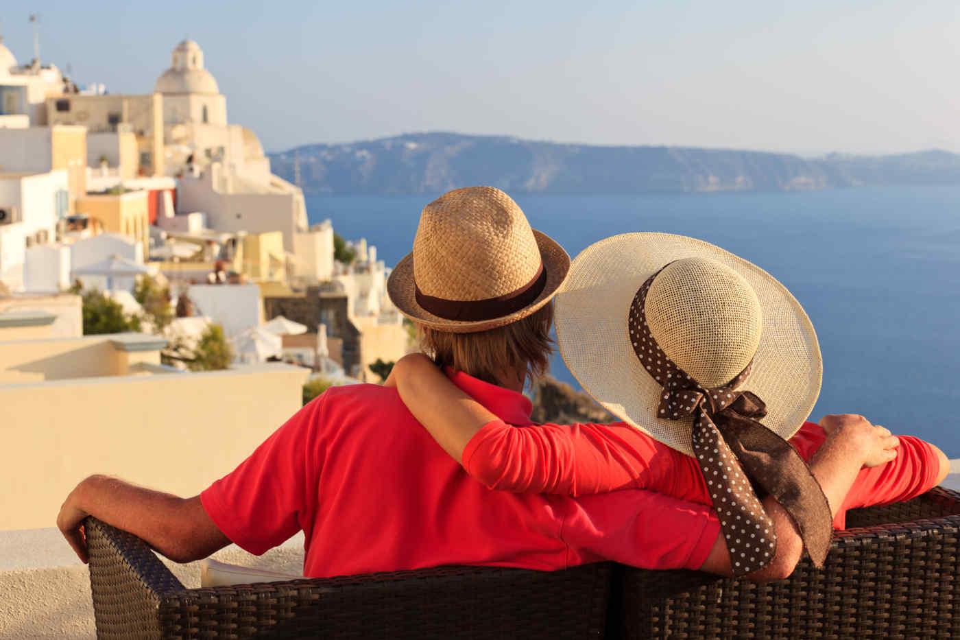 Relax on Santorini Island