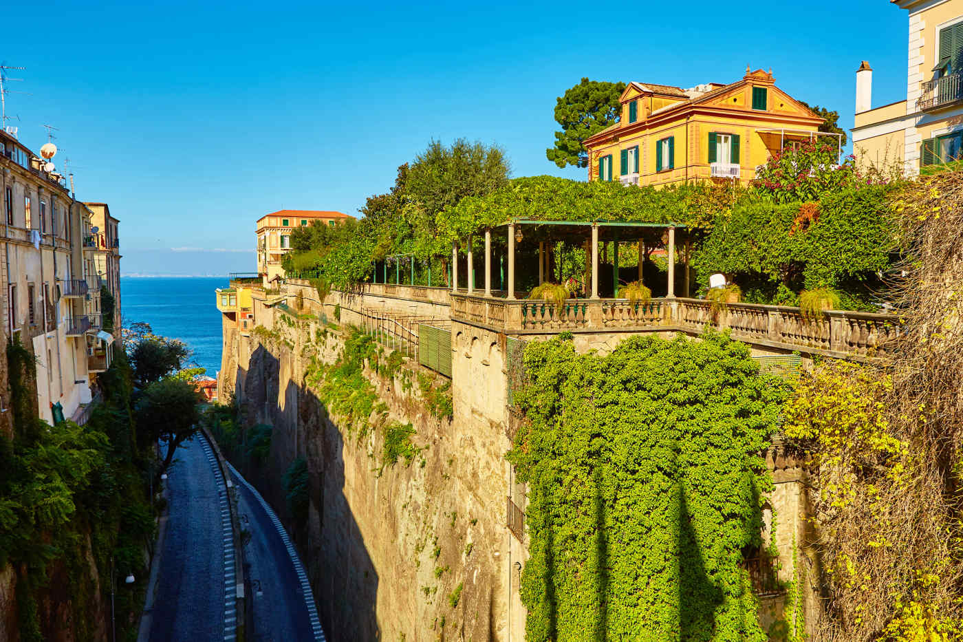 Road to the Sea in Sorrento, Italy