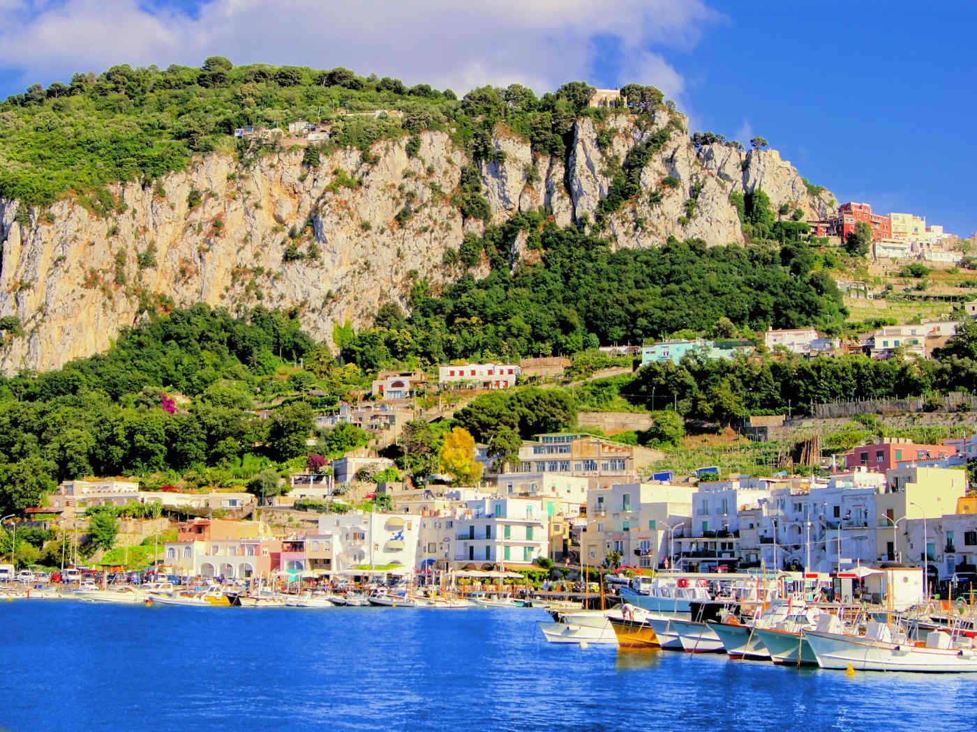 Coast of Capri in Italy