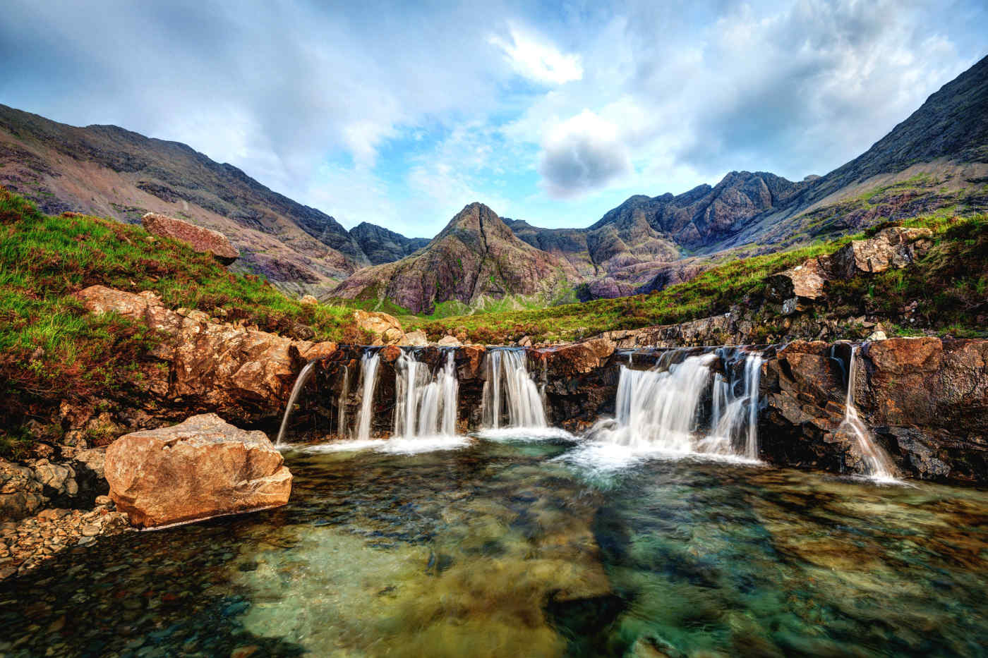 Faerie Pools on the Isle of Skye, Scotland