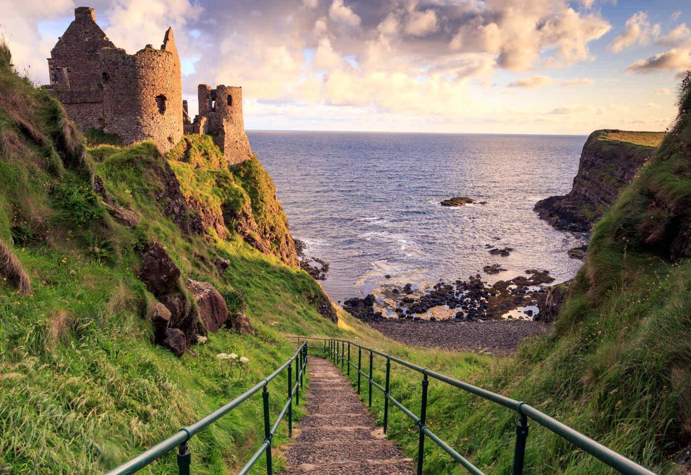 Dunluce Castle in Bushmills, Northern Ireland