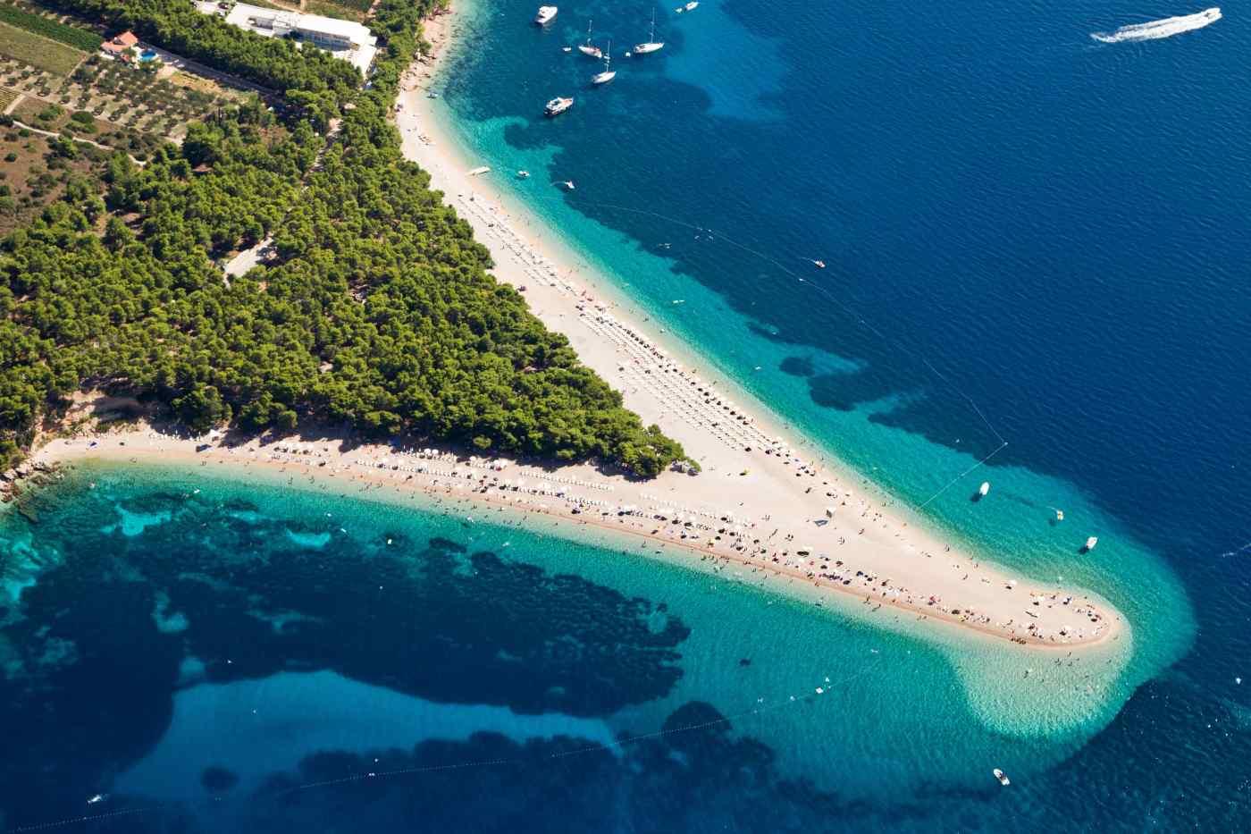 Zlatni Rat Beach in Bol, Brac Island, Croatia