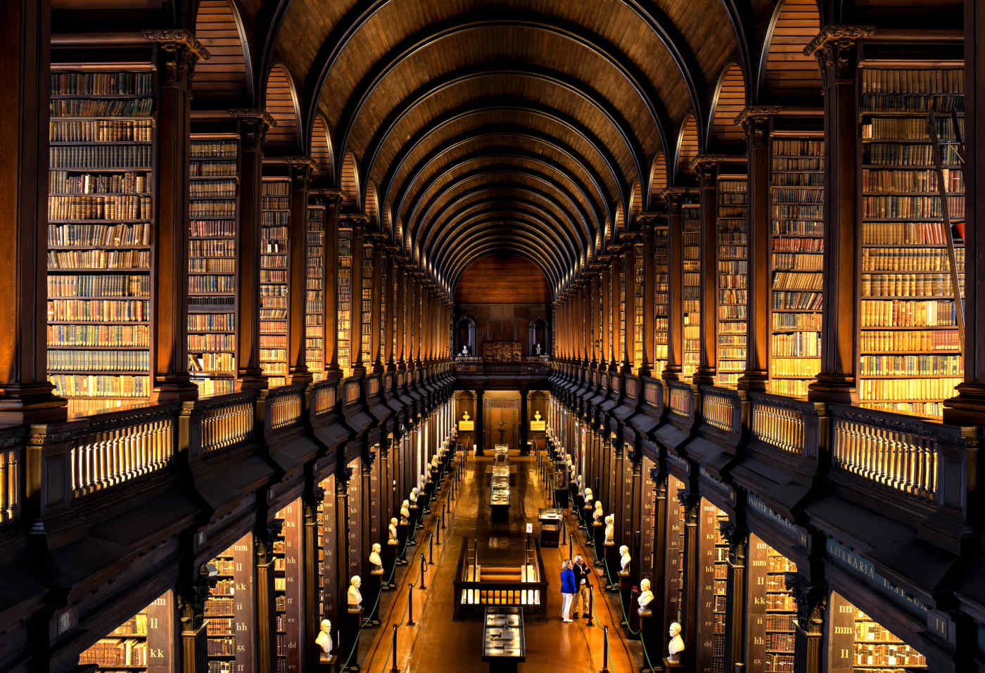 Long Room in Trinity College Library, Dublin