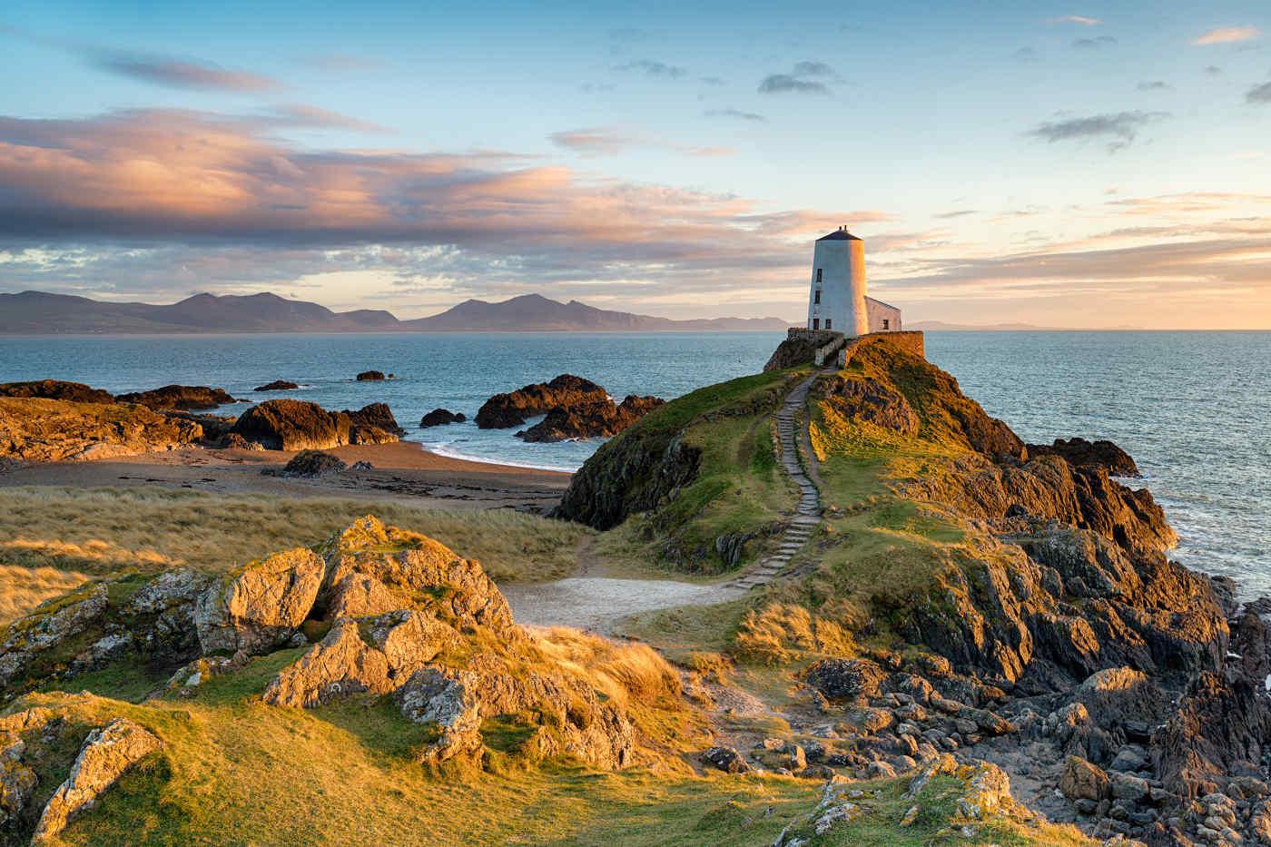 Llanddwyn Lighthouse, Anglesey, Wales