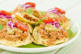 Panuchos, a traditional Yucatan snack