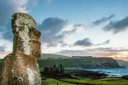 Moais Head Easter Island