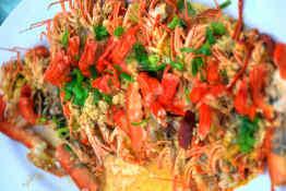 Balinese seafood dish