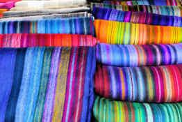 Ecuadorian woven blankets