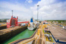 Gatun Locks of Panama Canal