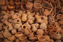 Earthenware pottery in Myanmar