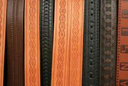 Ecuadorian leather belts