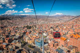 Cable car in La Paz
