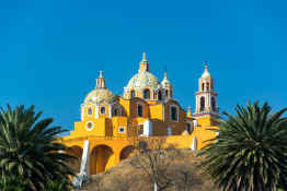 Our Lady of Remedies Church in Cholula, Mexico