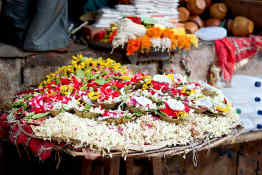 Flowers for Aarti ceremony