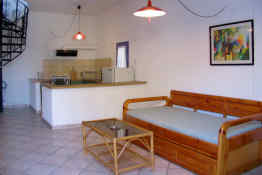Esperides Hotel Maisonettes • Kitchenette & Living Room
