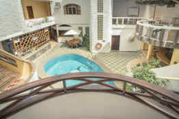 Grand Hotel Lobo De Mar Santa Cruz Island • Courtyard View