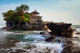 Tanah Lot on Bali, Indonesia