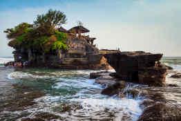 Tanah Lot on Bali, Indonesia