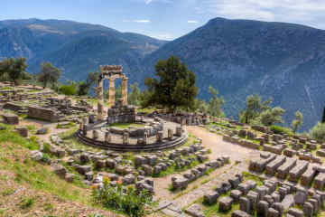 Sanctuary of Athena Pronaia in Delphi, Greece