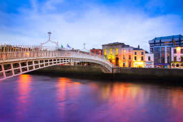 Ha'penny Bridge in Dublin, Ireland