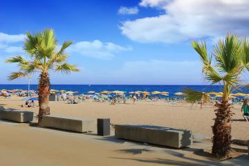 Barcelona Beach Scene