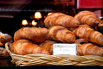 Croissants at a Parisian bakery