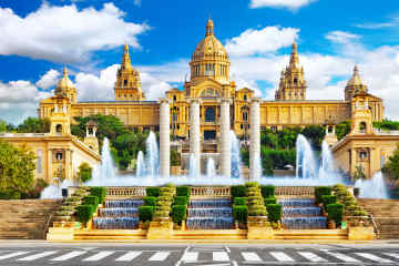 Fountain of Montjuic in Barcelona, Spain