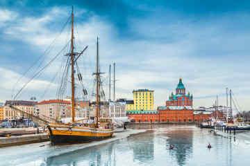 Harbor in Helsinki