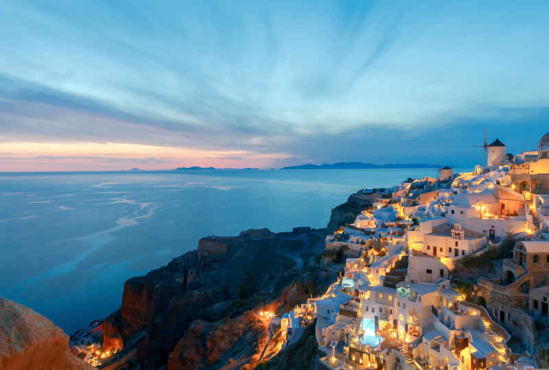 Fira Santorini at Dusk