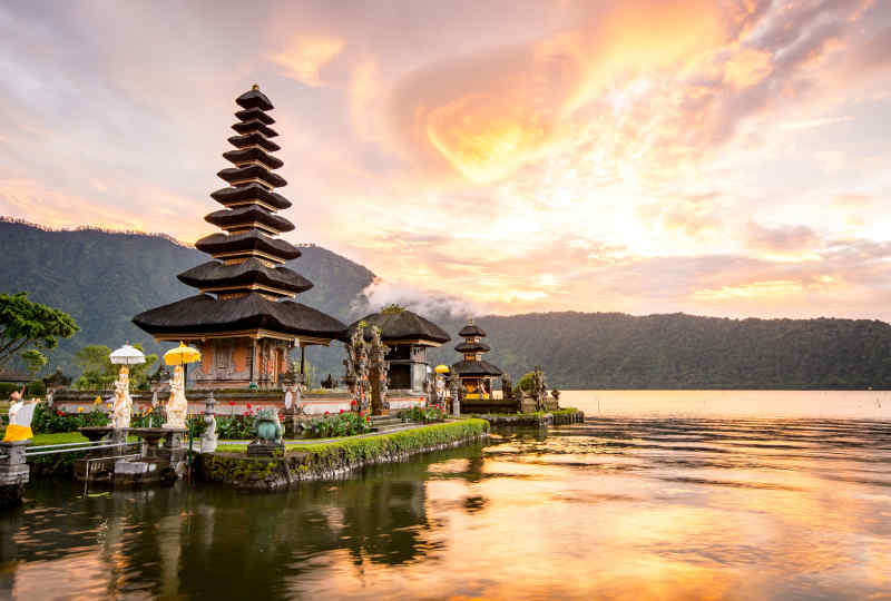 Pura Ulun Danu Bratan on Bali, Indonesia