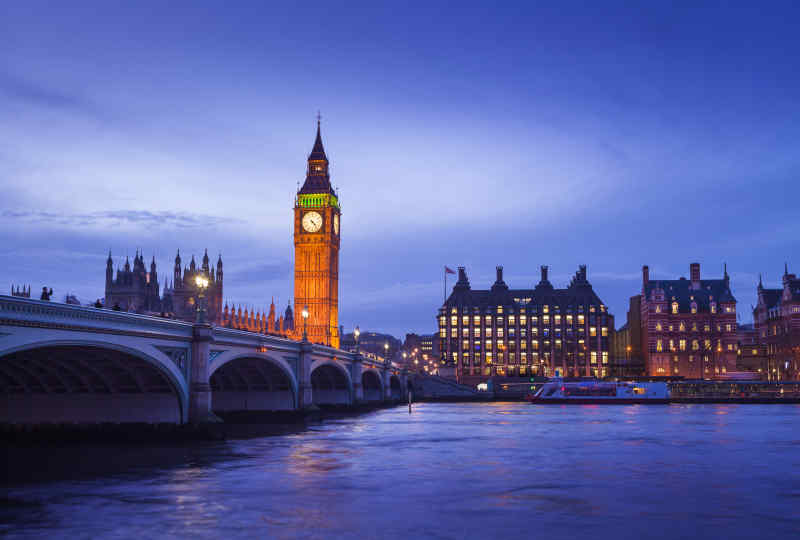 Big Ben and Westminster Bridge, England