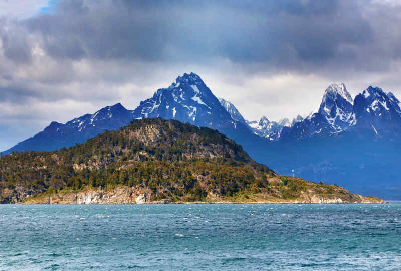 Beagle Channel in Tierra del Fuego National Park
