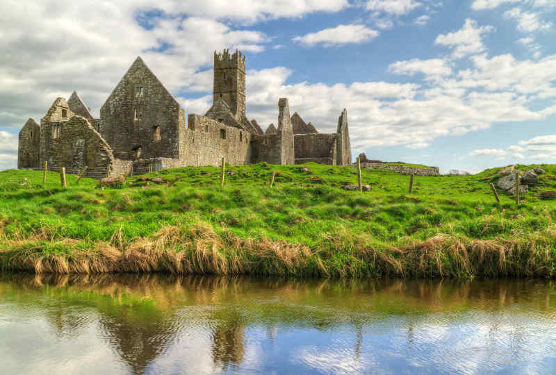 Ross Errilly Friary in Galway, Ireland