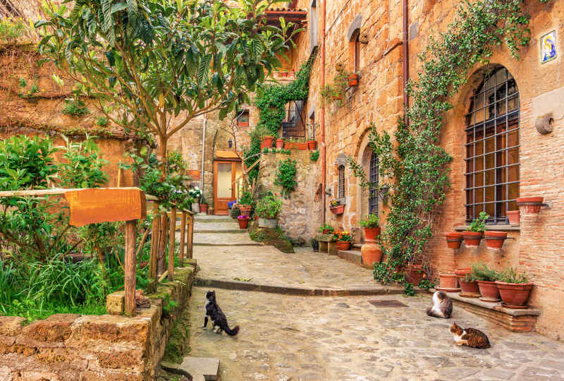 Stone alley in Tuscany