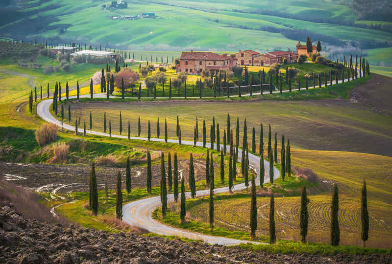 Winding Road in Tuscany, Italy
