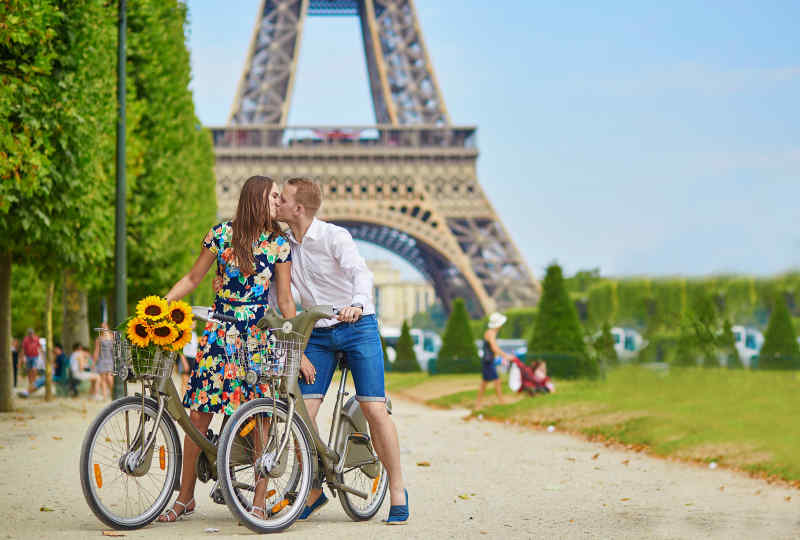 Couple at the Eiffel Tower