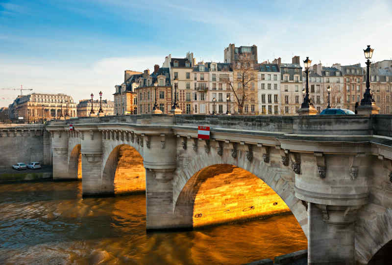 Pont Neuf, the oldest standing bridge across the river Seine