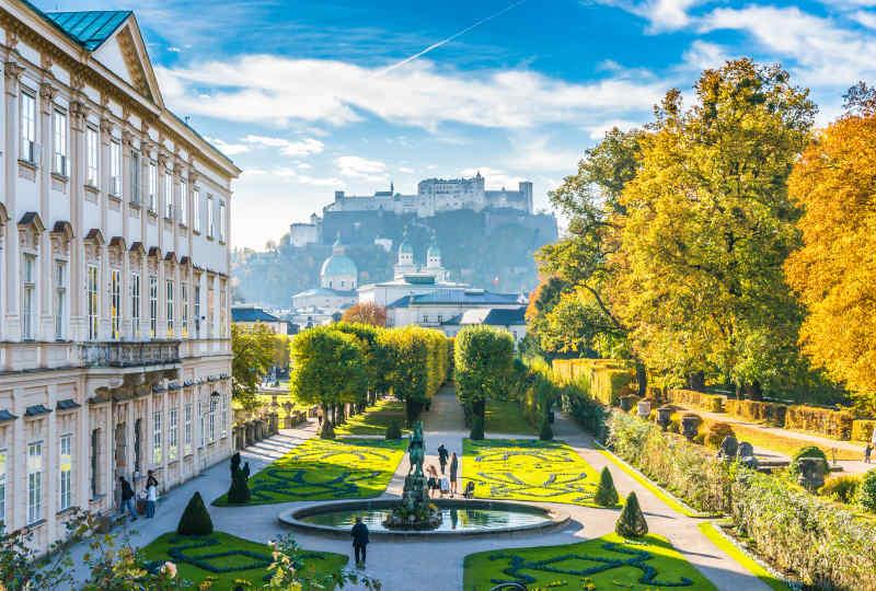 Mirabell Palace Gardens in Salzburg, Austria