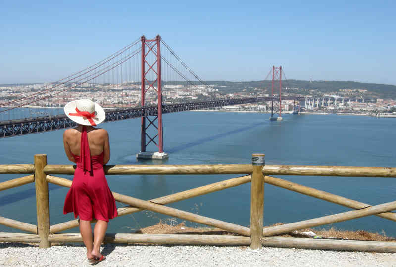25 de Abril Bridge in Lisbon, Portugal