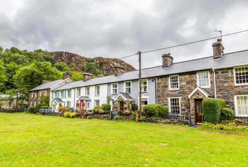 Village in Snowdonia National Park, Wales