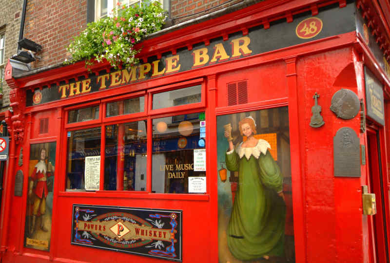 The Temple Bar in Dublin, Ireland