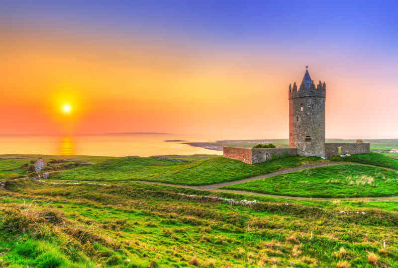 Doonagore Castle in County Clare