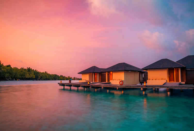 Ocean villa in the Maldives