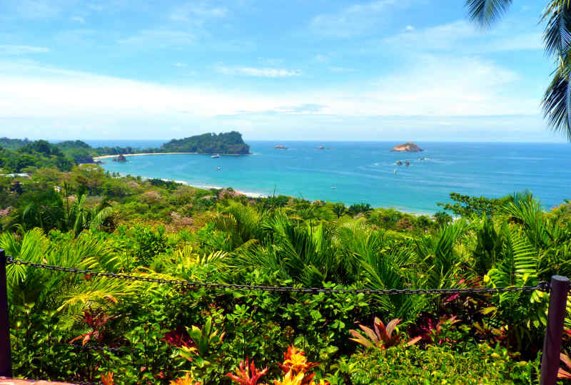 Coast of Manuel Antonio in Costa Rica